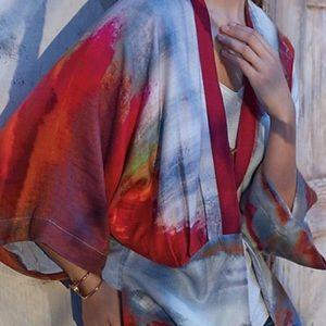 Anthropolgie sun fall kimono by blank